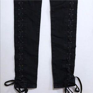 Bebe lace up jeans